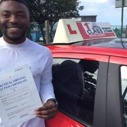 student who has passed their driving test