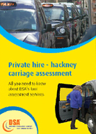 private hire - hackney carriageway assessment